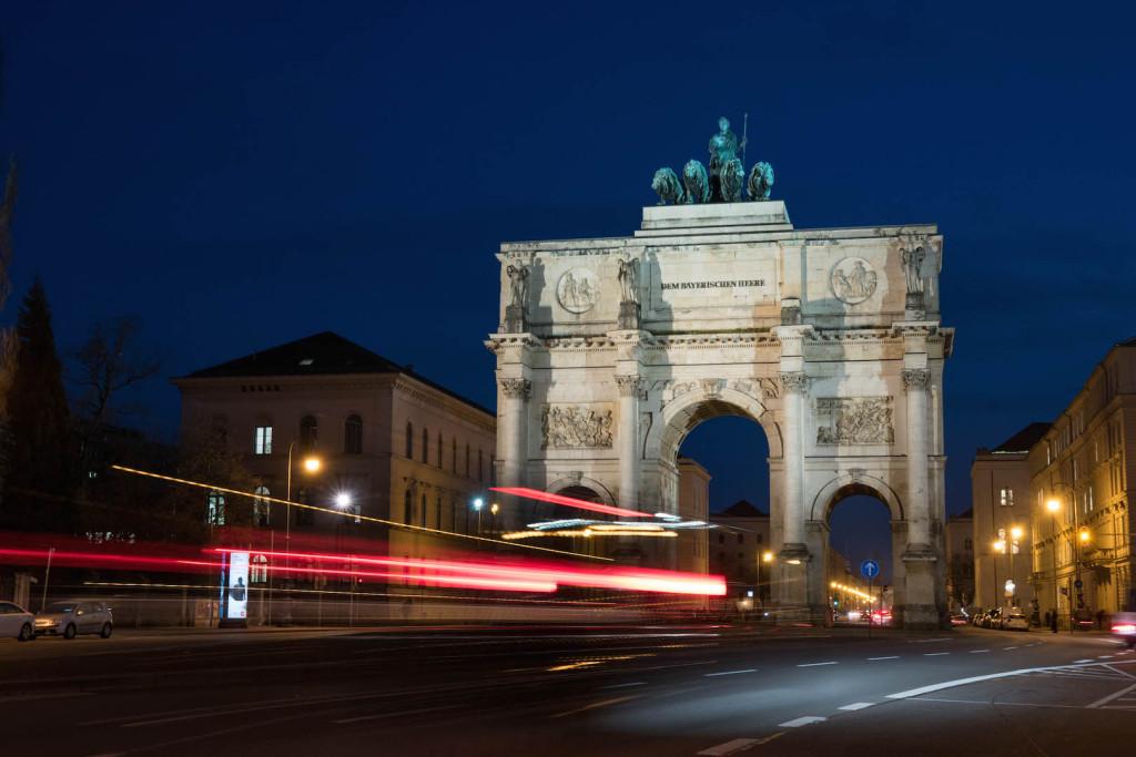 Ludwigstrasse Langzeitbelichtung 2