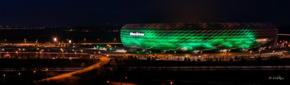 Allianz Arena in Grün – so ein bisschen…